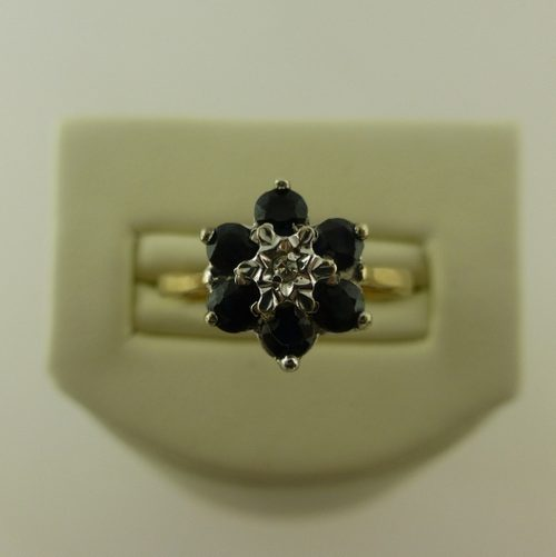 Antiques Atlas Sapphire And Diamond Flower Ring