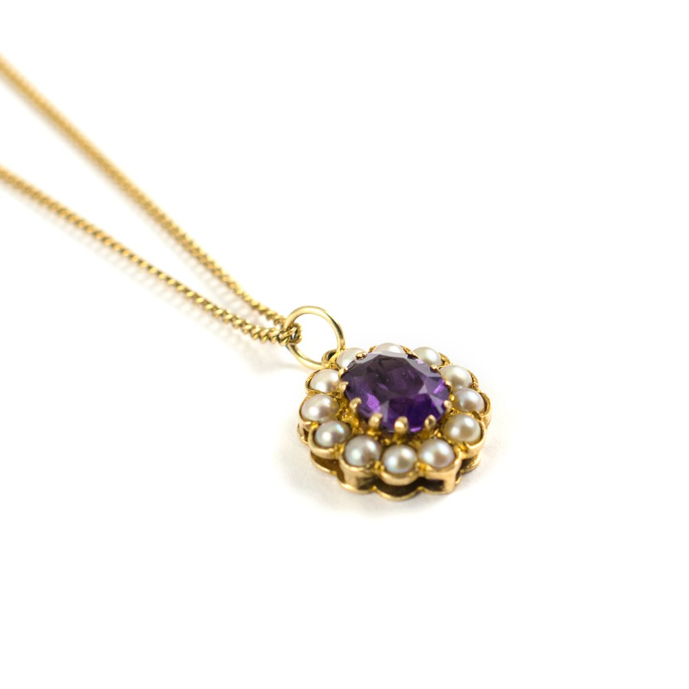 amethyst jewelry vintage