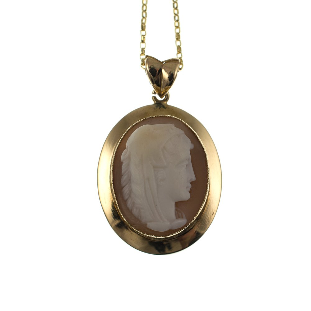 antiques atlas vintage cameo pendant 9ct gold