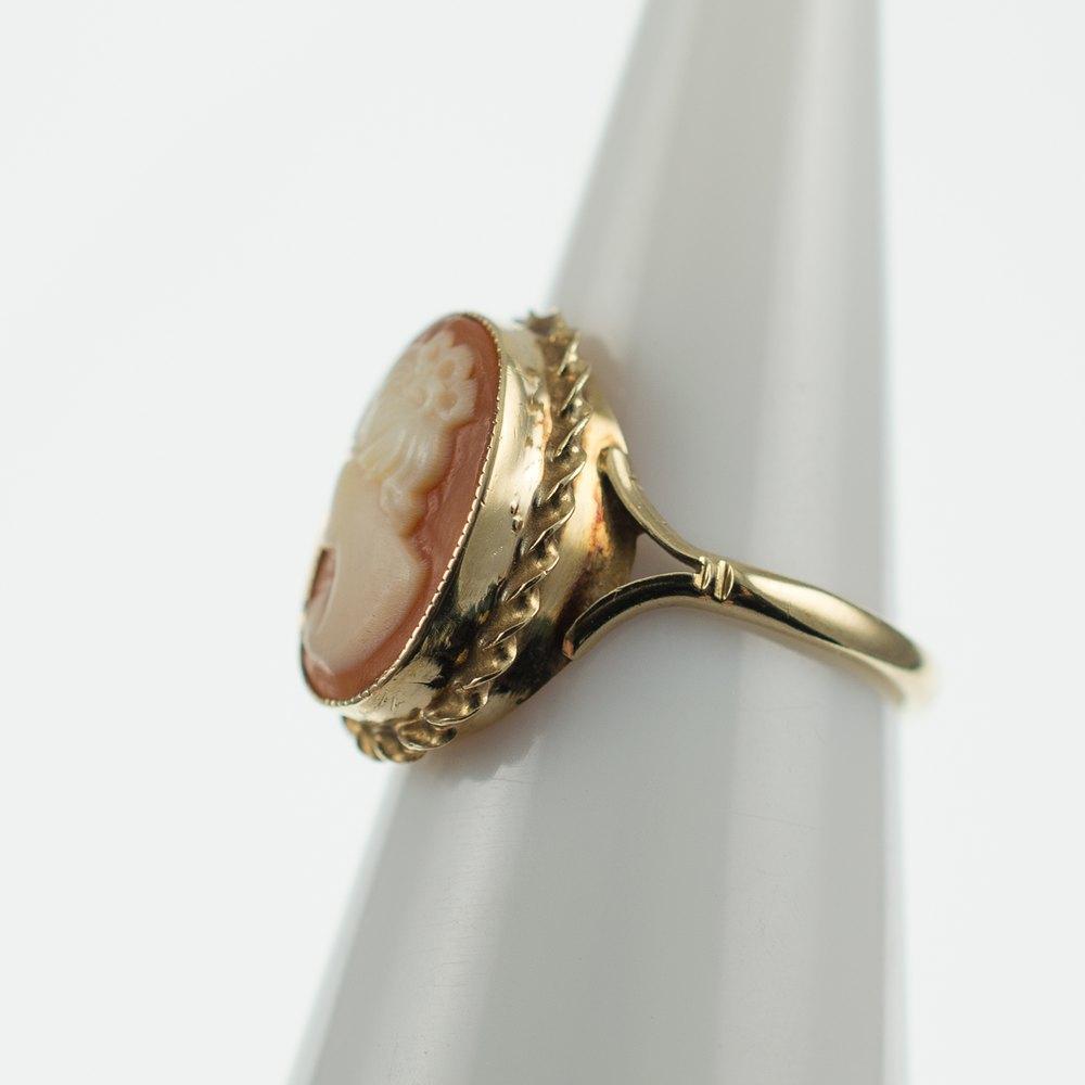 antiques atlas vintage cameo ring size l