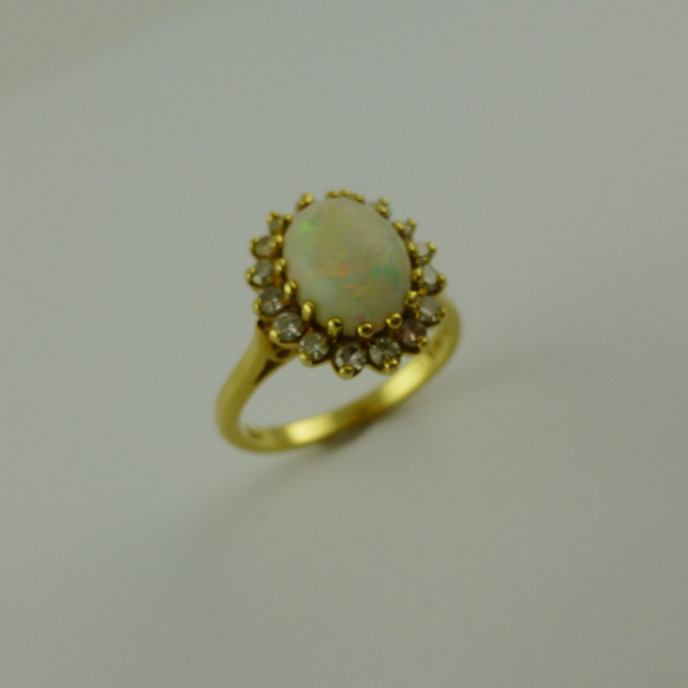 antiques atlas vintage opal and ring 18ct gold