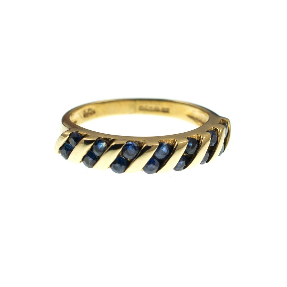 Antiques Atlas Vintage Sapphire Ring 9Ct Gold