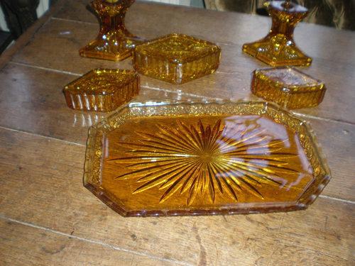 vintage glass dressing table sets 2