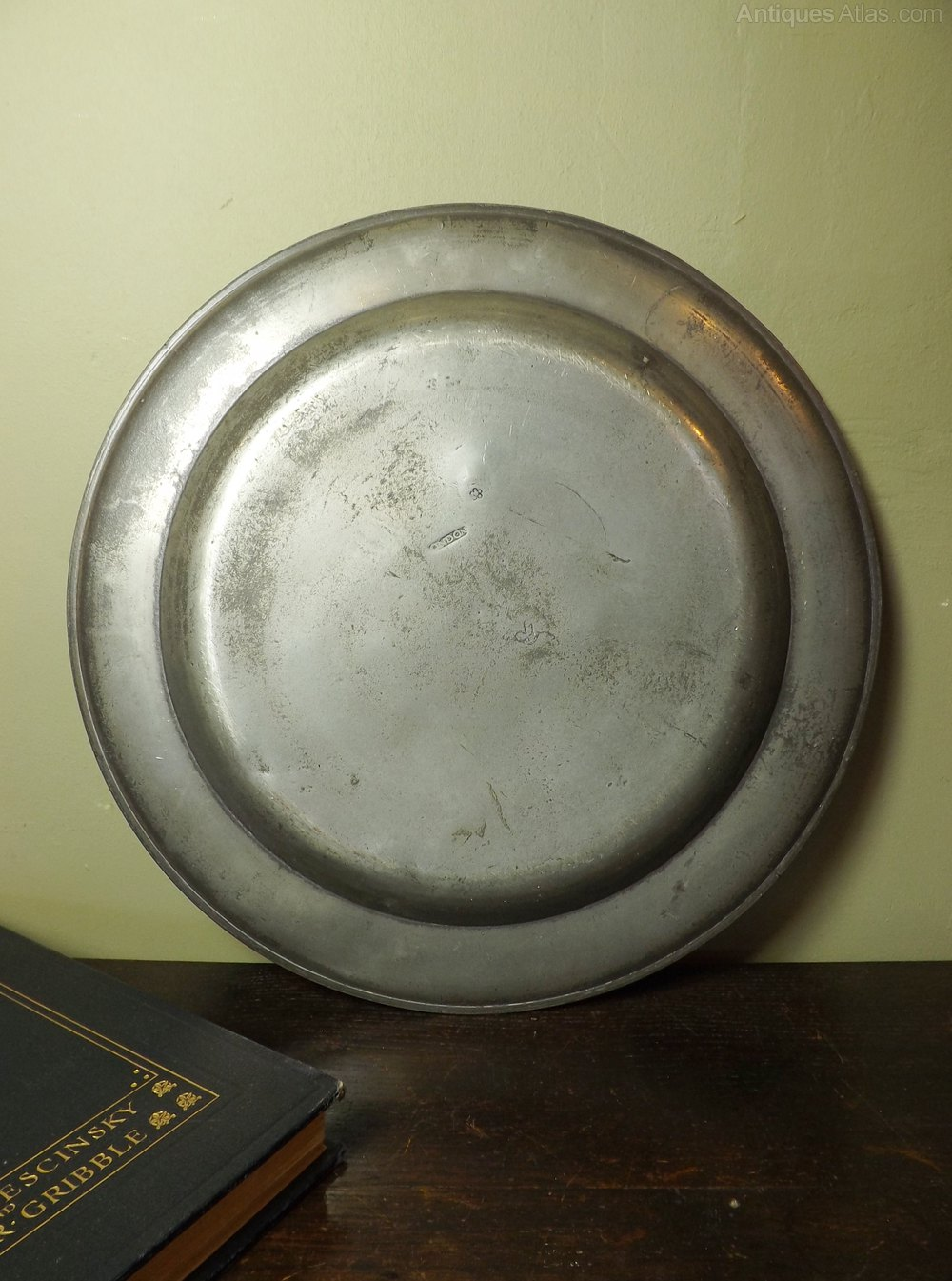 antiques atlas   pewter charger
