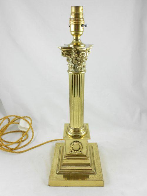 Antiques Atlas 19th C Corinthian Column Brass Lamp Base