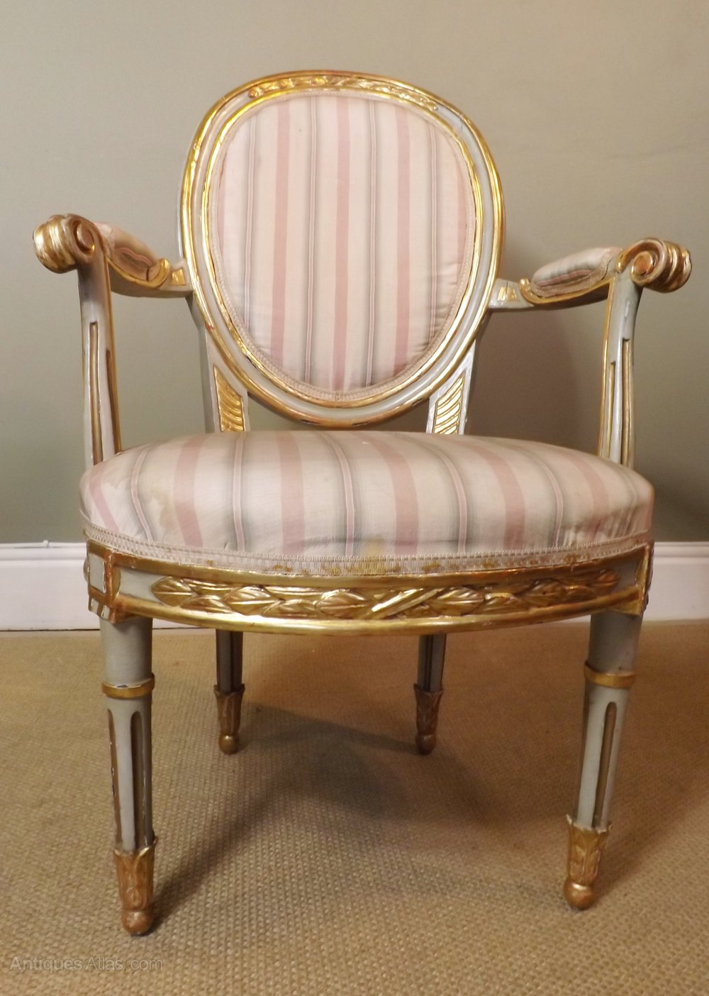 Th c gilt decorative arm chair antiques atlas