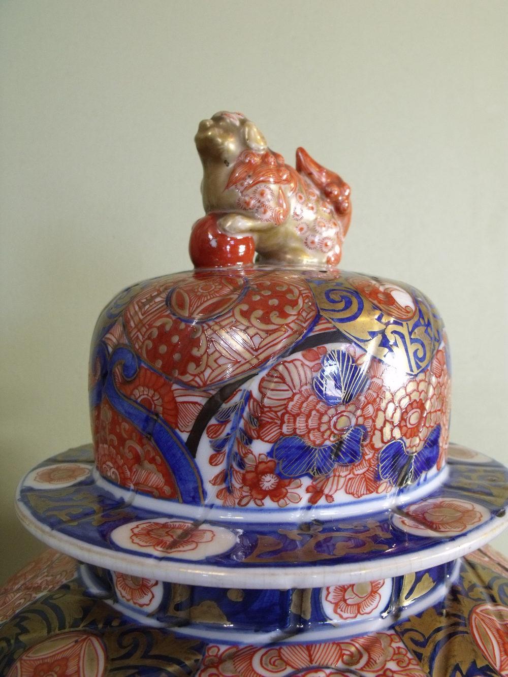 Antiques Atlas 19th C Imari Temple Jar And Cover