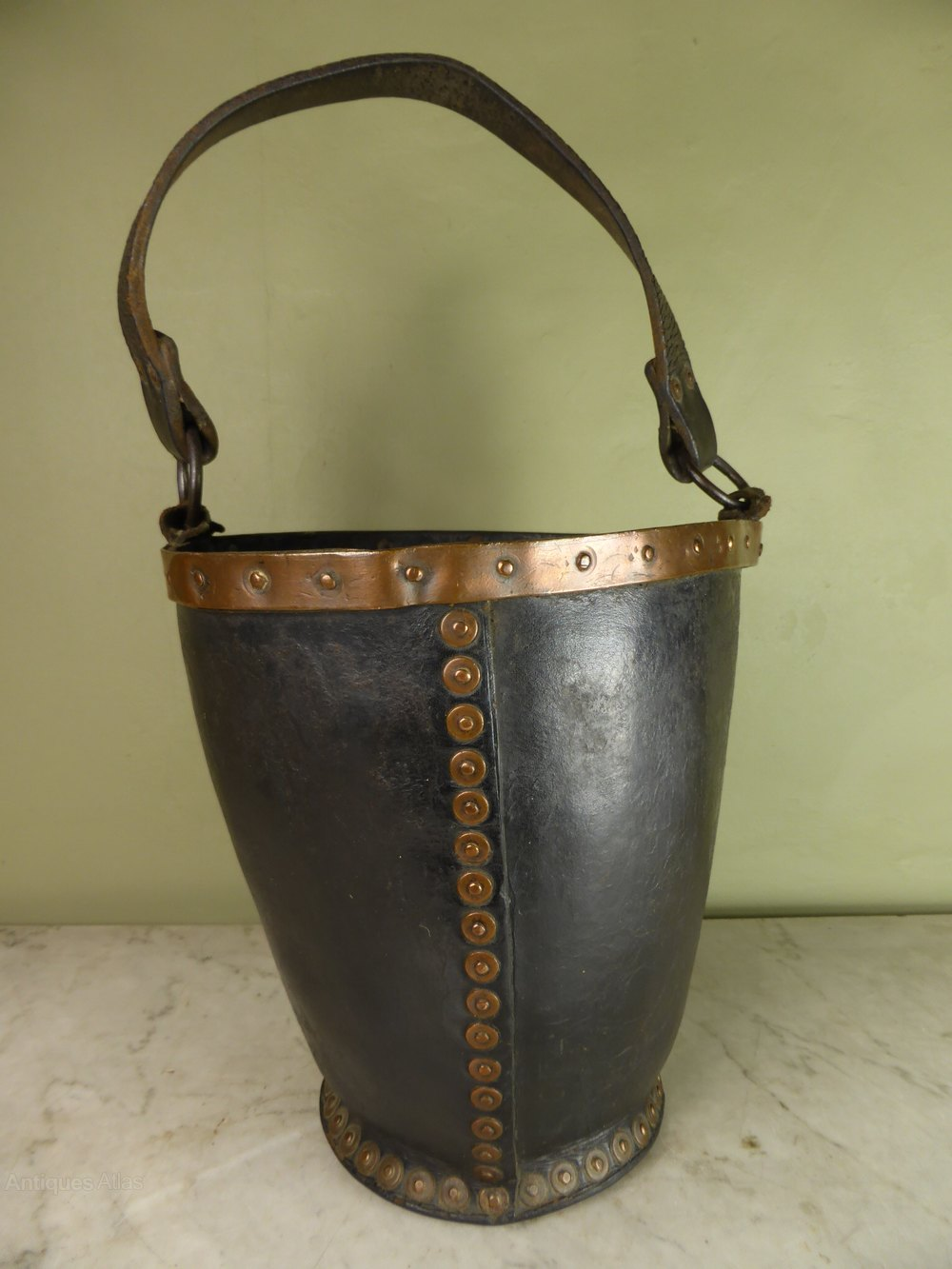 Antiques Atlas - 19th C Leather Bucket
