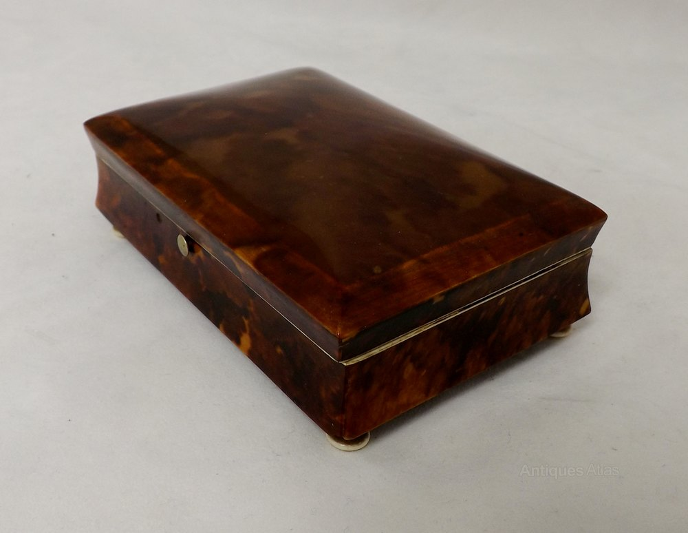 antiques atlas 19thc tortoise shell box. Black Bedroom Furniture Sets. Home Design Ideas