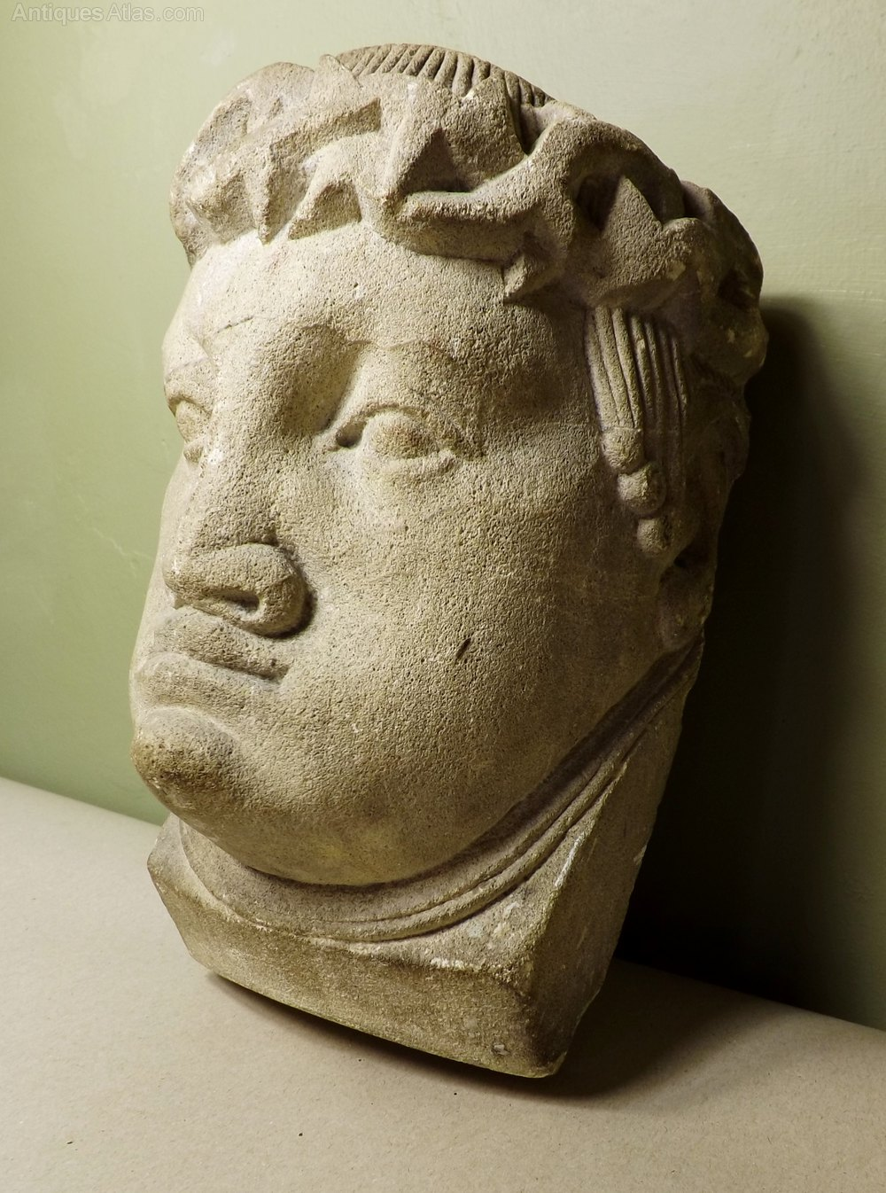 Antiques atlas carved stone head
