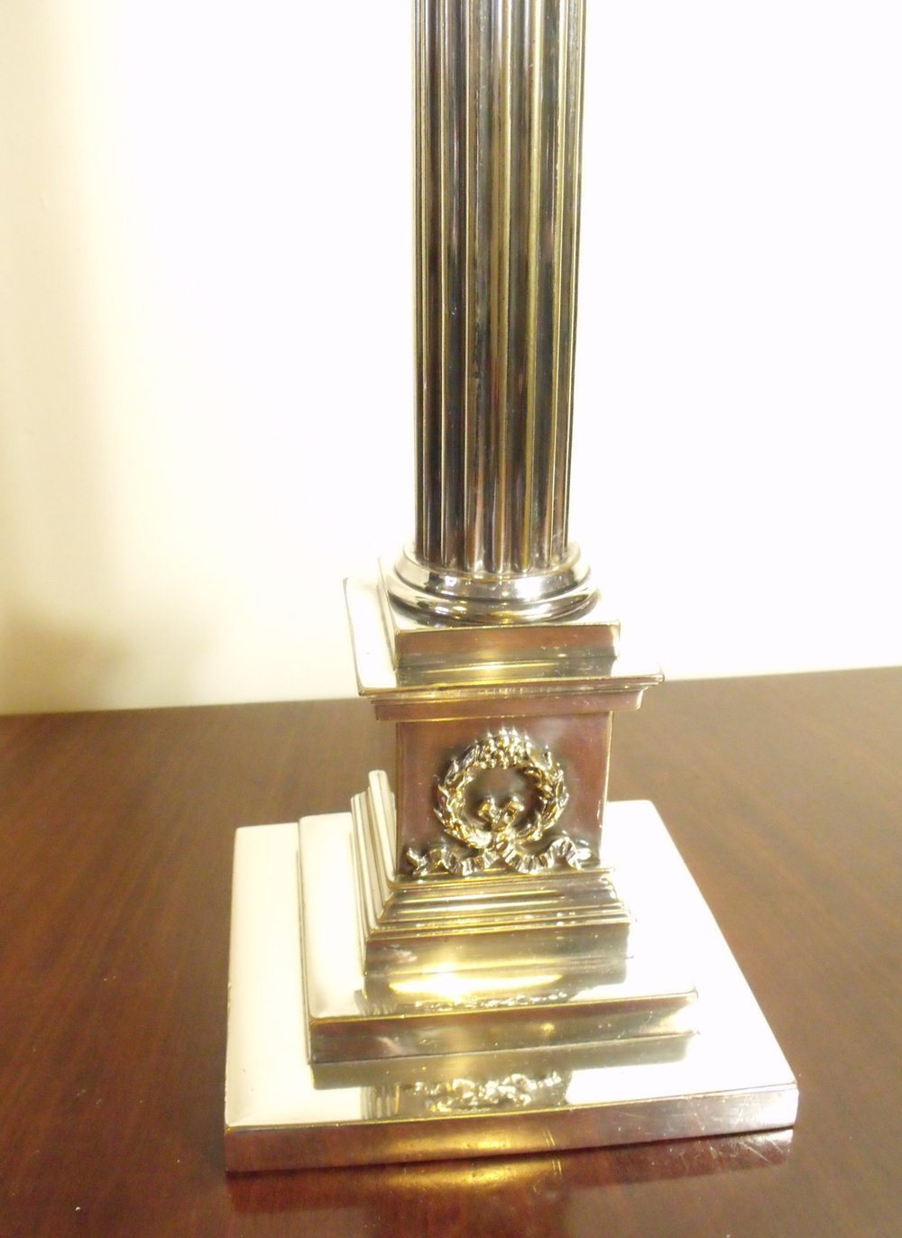 Antiques Atlas Large Silver Plated Lamp Base