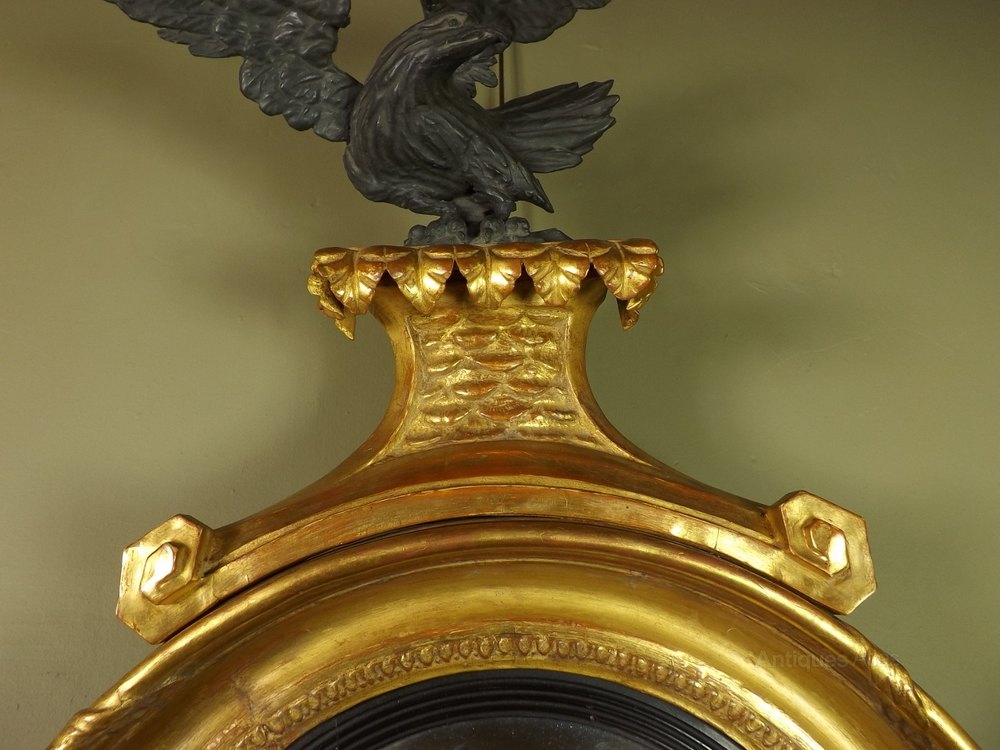 Antiques atlas regency gilt convex mirror for What is a gilt mirror