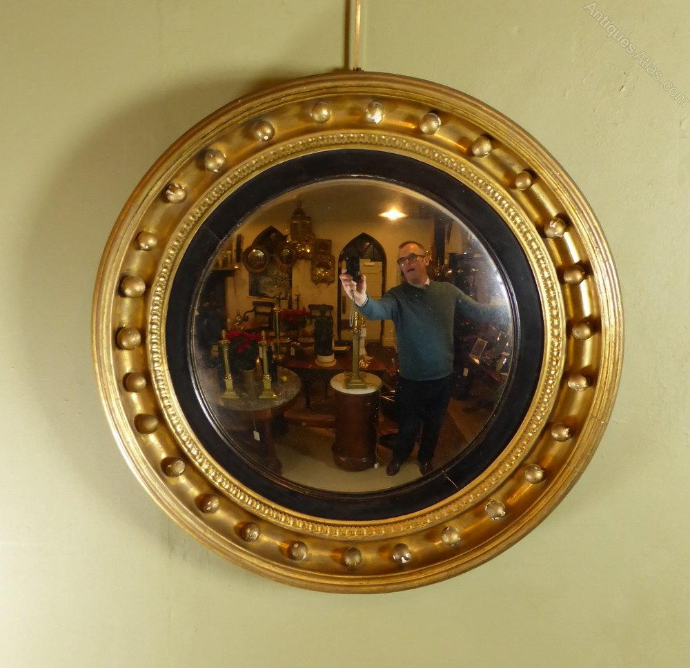 Antiques atlas regency gilt convex mirror for Convex mirror