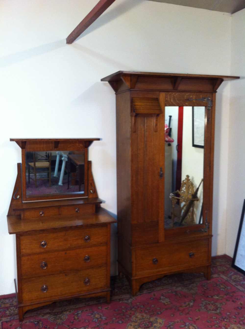 maple co arts and crafts bedroom suite antiques atlas