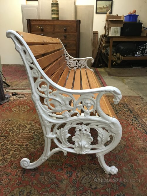 Antiques Atlas Cast Iron Garden Bench