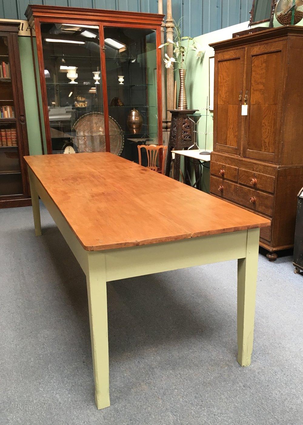 large 10ft pine kitchen table antiques atlas