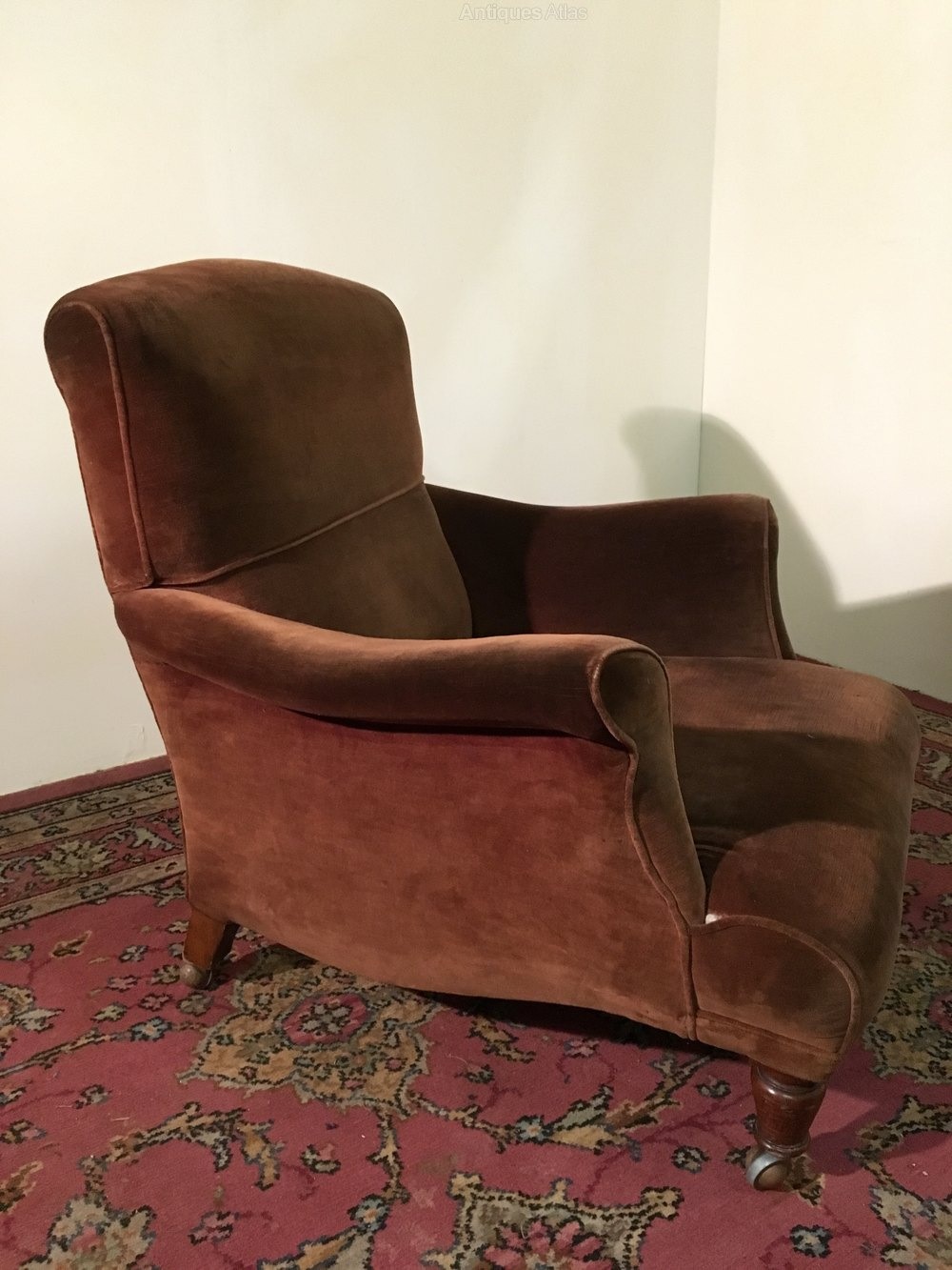 Large shapely armchair antiques atlas