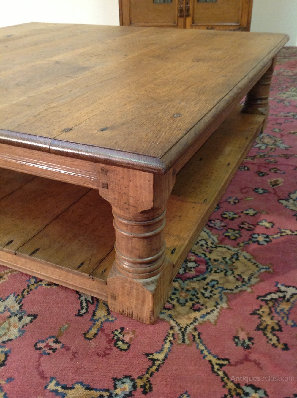 Antiques Atlas Large Oak Coffee Table