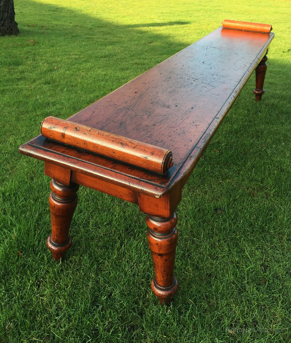 Pair Scottish Pine Hall Benches Antiques Atlas