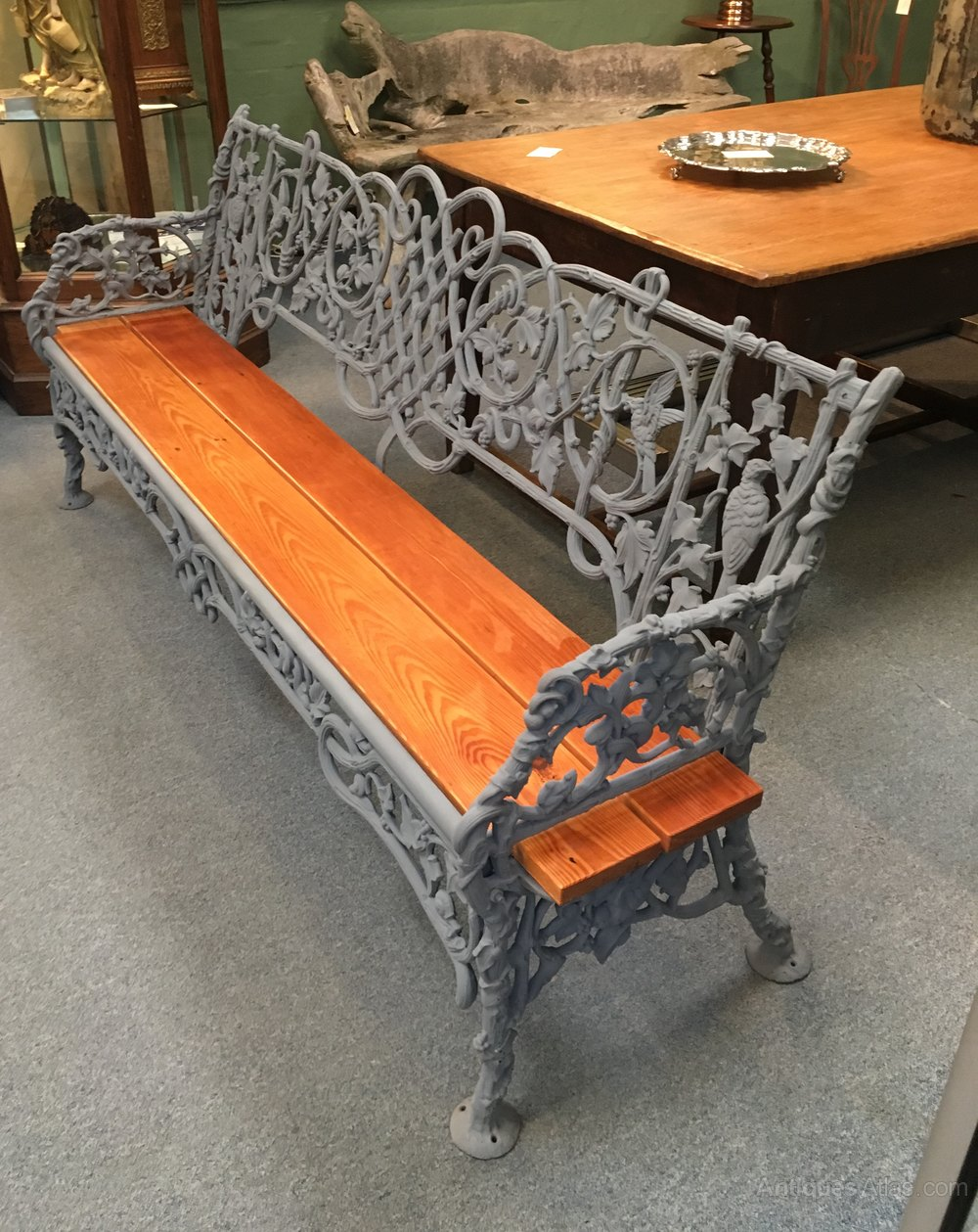 Rare Cast Iron Garden Bench ...