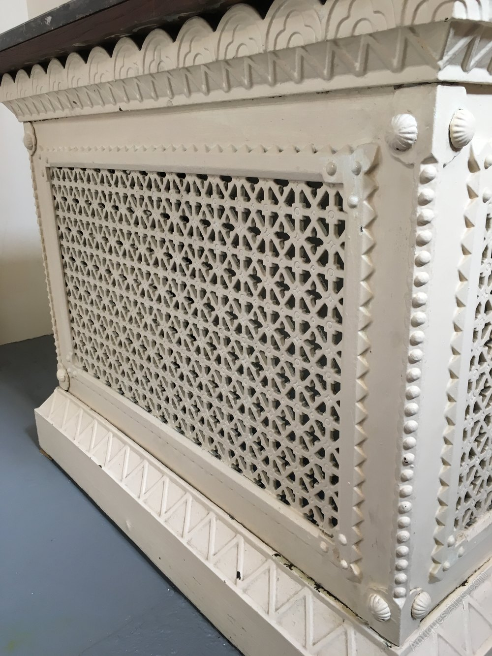 Antiques atlas small cast iron radiator cover - Cast iron radiator covers ...