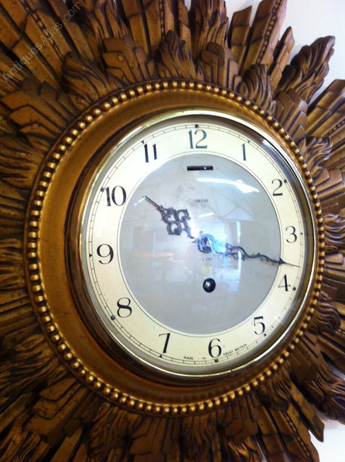 Antiques Atlas Smiths Sunburst Clock