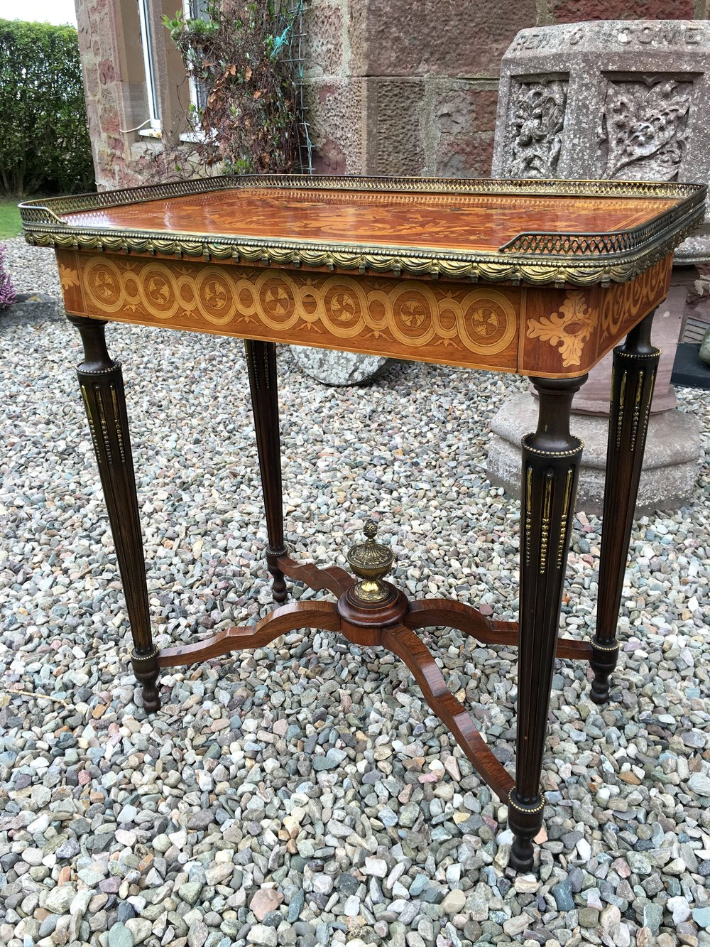 Superb marquetry side table antiques atlas
