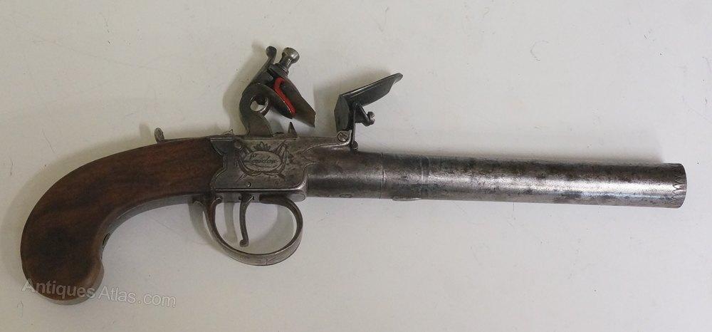 Antiques Atlas - A 19th Century Flintlock Boxlock Gun By ...
