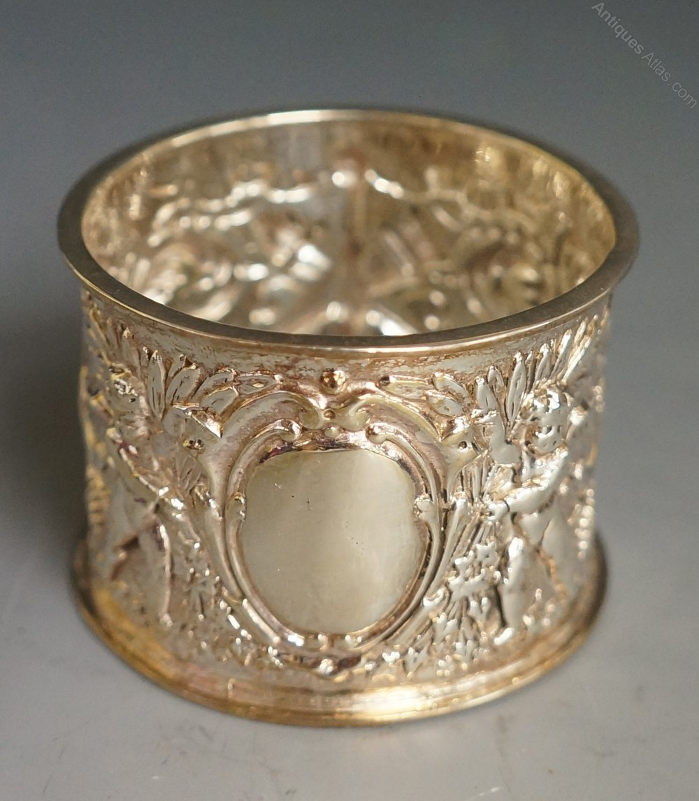 antiques atlas a silver napkin ring with box