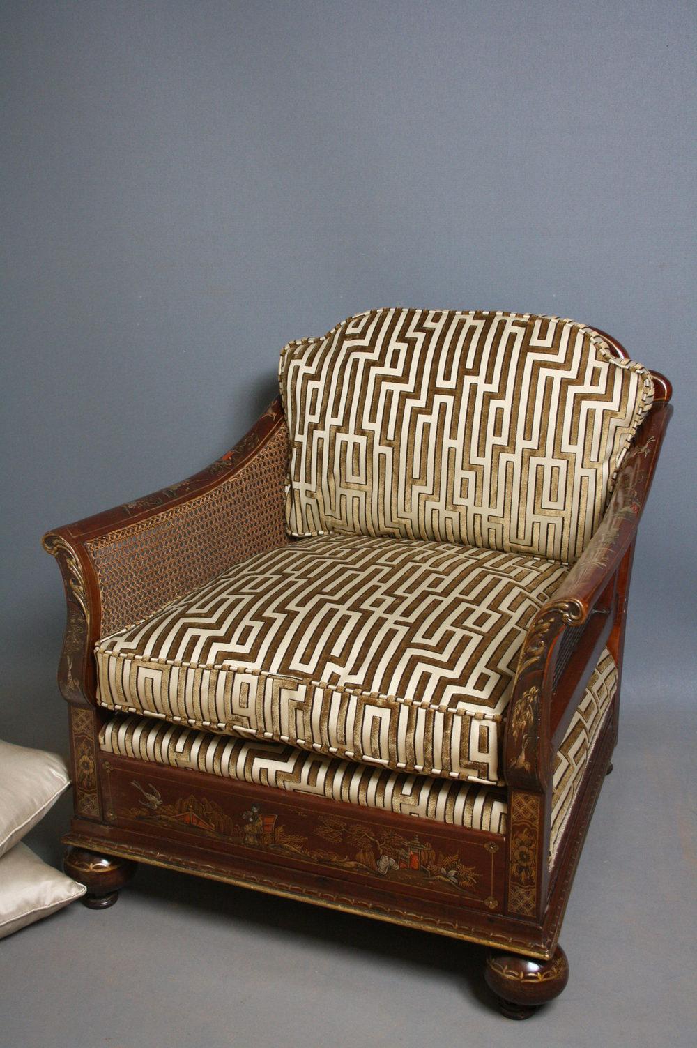 Bergere Armchair Antique Bergere Chairs ... - Bergere Armchair - Antiques Atlas