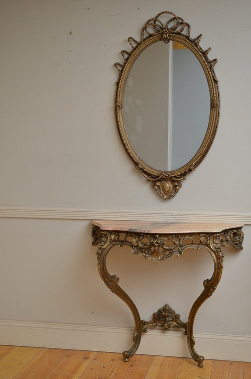 hall console table with mirror 3