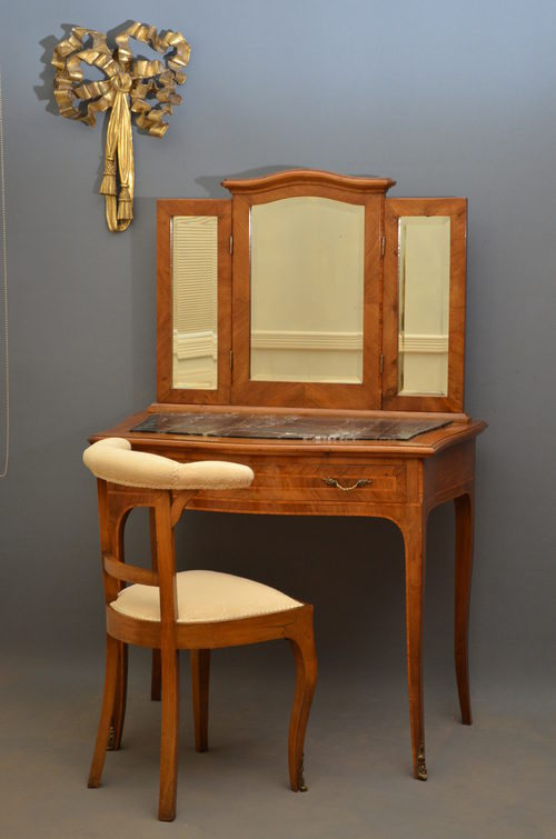 Dressing Table Chairs And Stools: Continental Dressing Table With Chair