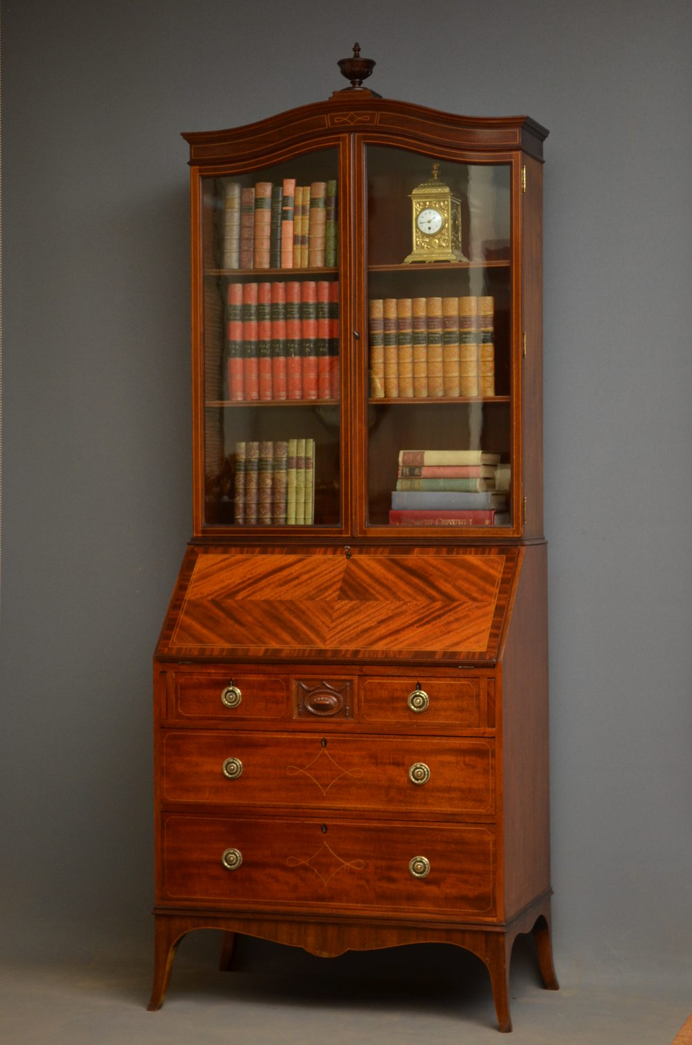 edwardian bureau bookcase by maples co antiques atlas. Black Bedroom Furniture Sets. Home Design Ideas