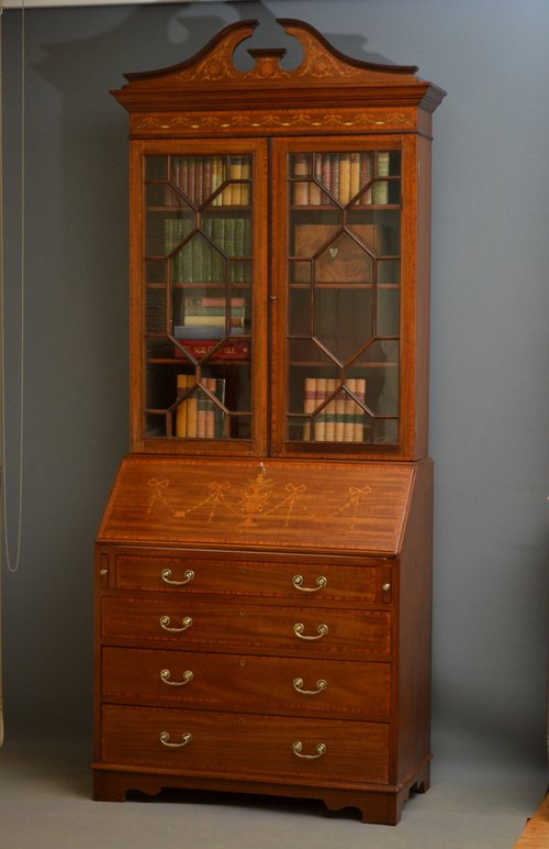 Edwardian bureau bookcase antiques atlas for Bureau for sale