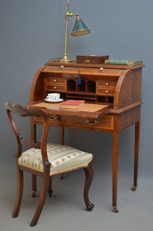 Edwardian Bureau - Writing Desk Antique ... - Edwardian Bureau - Writing Desk - Antiques Atlas
