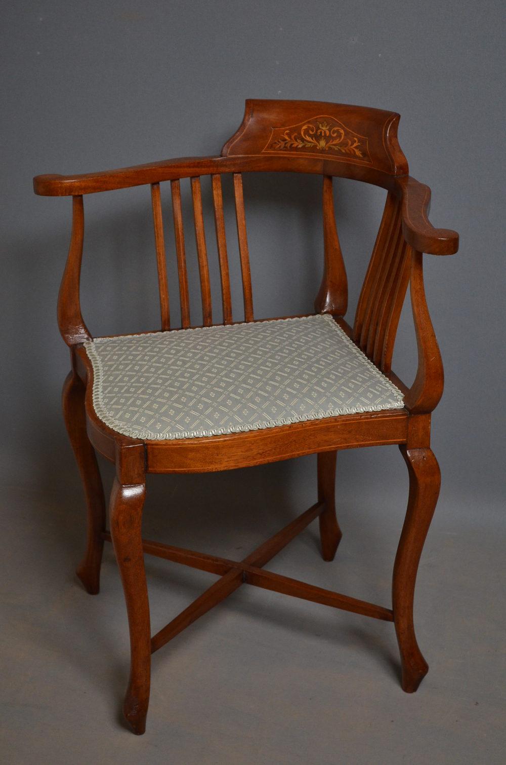Edwardian Corner Chair Antique Corner Chairs - Edwardian Corner Chair - Antiques Atlas