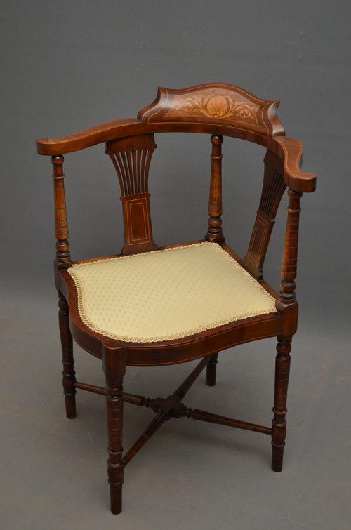 edwardian corner chair antiques atlas