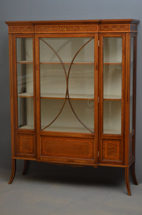 Edwardian Display Cabinet - Vitrine Antique ... - Edwardian Display Cabinet - Vitrine - Antiques Atlas