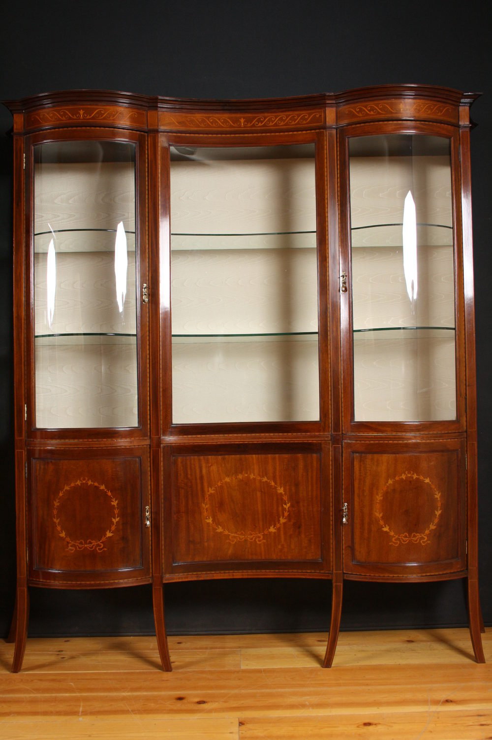 Edwardian Display Cabinet - China Cabinet