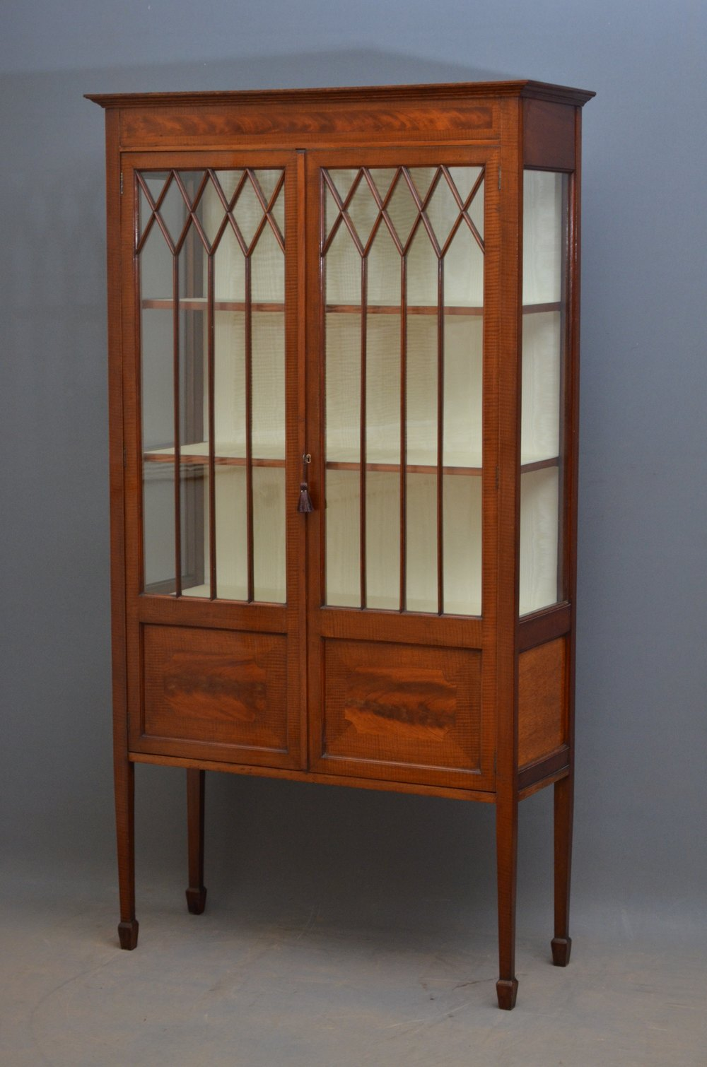 Edwardian Mahogany Display Cabinet China Cabinet