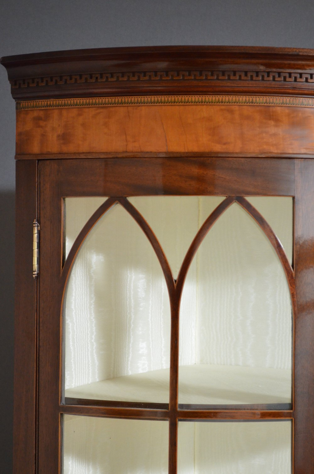 Edwardian mahogany free standing corner cabinet antiques for Antique free standing kitchen cabinets