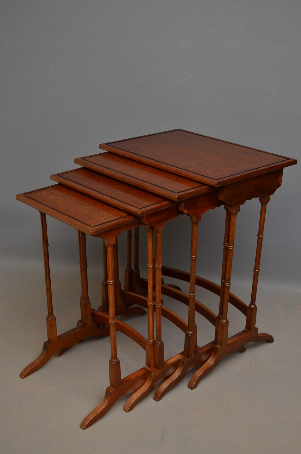edwardian nest of tables in mahogany antiques atlas. Black Bedroom Furniture Sets. Home Design Ideas
