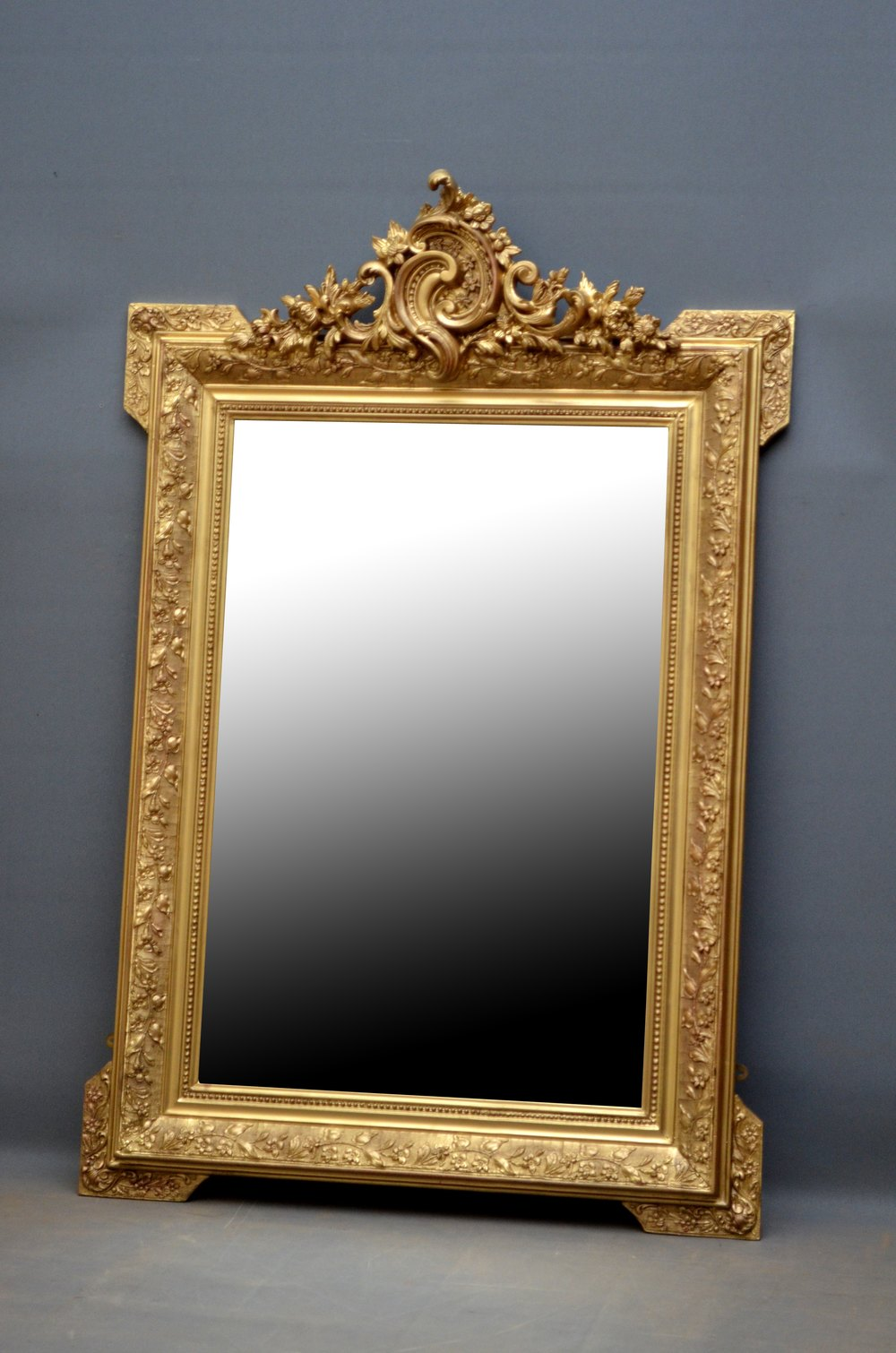 Antiques Atlas Elegant 19th Century Gilt Mirror