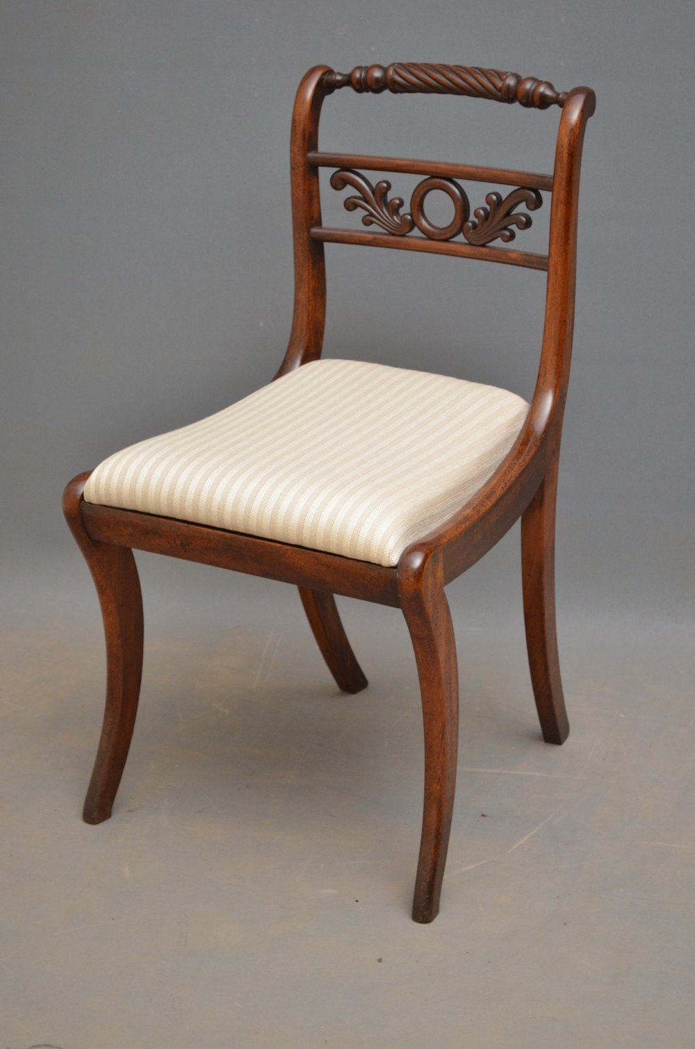 Exceptional Set Of 8 Regency Dining Chairs Antiques Atlas