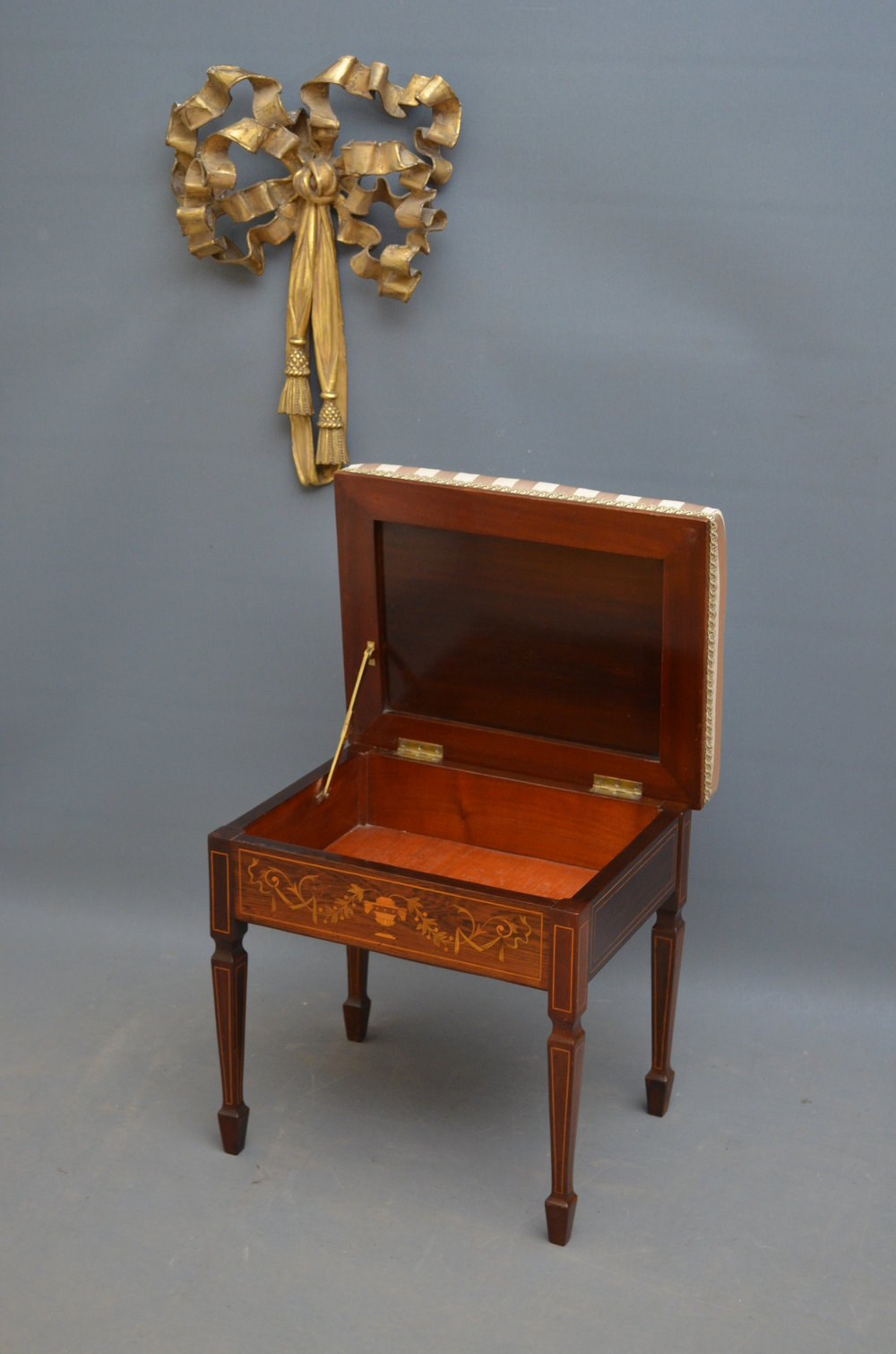 Exceptional Edwardian Rosewood Piano Stool Antiques Atlas