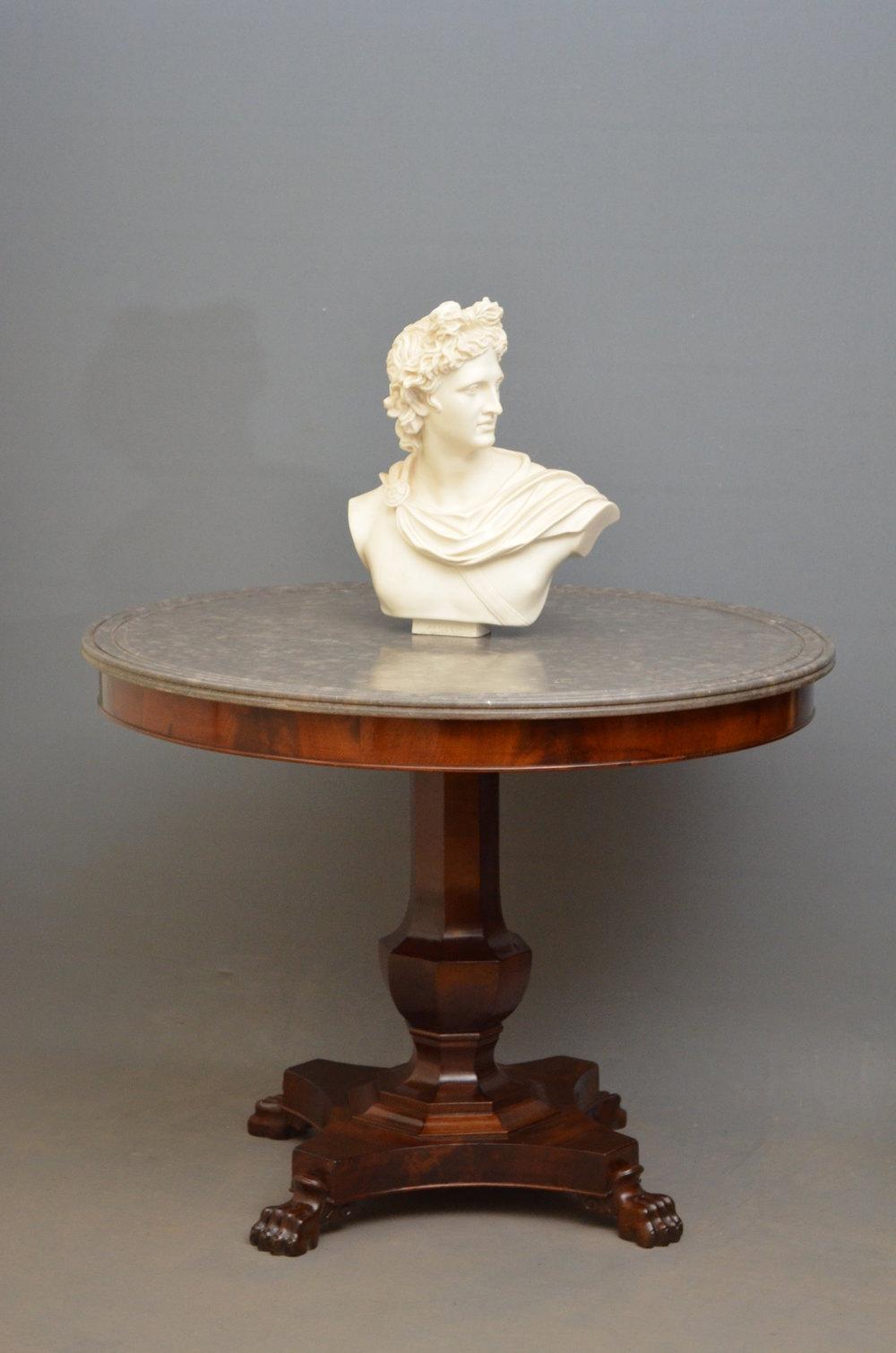 Elegant mahogany centre table gueridon antiques atlas for Table gueridon