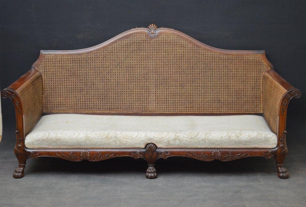 Fine 3 Piece Bergere Suite Sofa 2 Armchairs Antiques