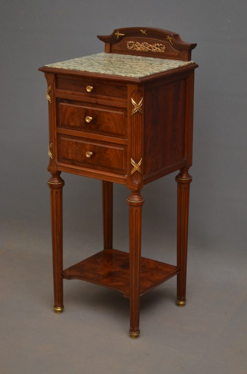 - French Bedside Cabinet In Mahogany - Antiques Atlas