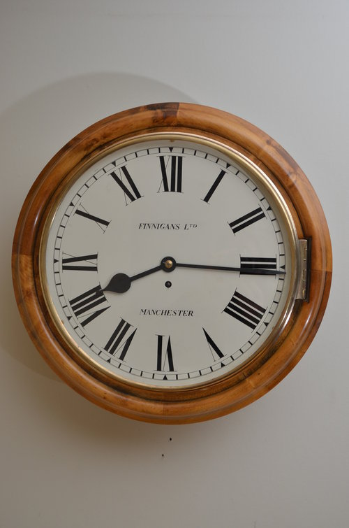 Antiques Atlas Large Victorian Wall Clock By Finnigans