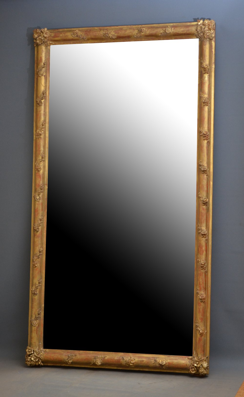 Large antique floor standing mirror